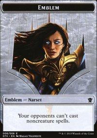 Emblem Narset Transcendent - Dragons of Tarkir