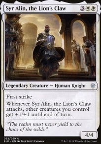 Syr Alin, the Lion's Claw - Throne of Eldraine
