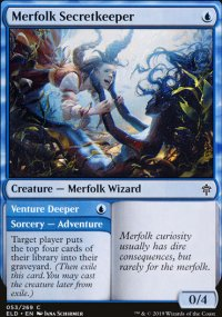 Merfolk Secretkeeper 1 - Throne of Eldraine