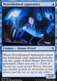 Overwhelmed Apprentice - Throne of Eldraine