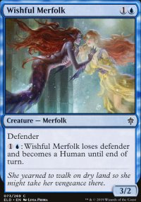 Wishful Merfolk - Throne of Eldraine