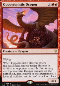 Opportunistic Dragon 1 - Throne of Eldraine