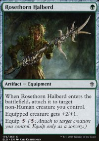 Rosethorn Halberd - Throne of Eldraine