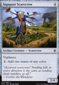 Signpost Scarecrow - Throne of Eldraine