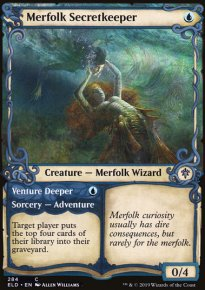 Merfolk Secretkeeper 2 - Throne of Eldraine