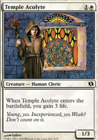 Temple Acolyte - Elspeth vs. Tezzeret