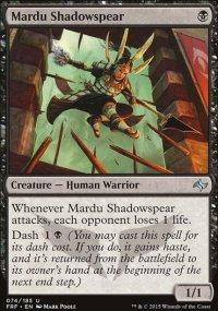 Mardu Shadowspear - Fate Reforged