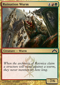 Ruination Wurm - Gatecrash