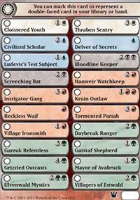 Double-faced cards checklist - Innistrad