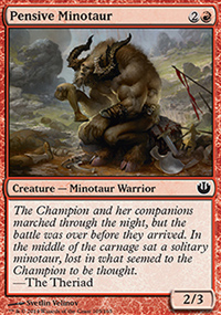 Pensive Minotaur - Journey into Nyx