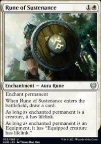 Rune of Sustenance -