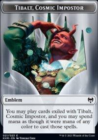 Emblem Tibalt, Cosmic Impostor - Kaldheim
