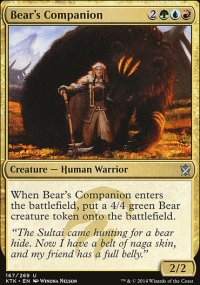Bear's Companion - Khans of Tarkir