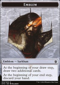 Emblem Sarkhan, the Dragonspeaker - Khans of Tarkir