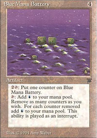 Blue Mana Battery - Legends