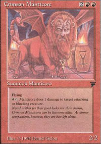 Crimson Manticore - Legends