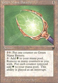 Green Mana Battery - Legends