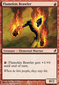 Flamekin Brawler - Lorwyn