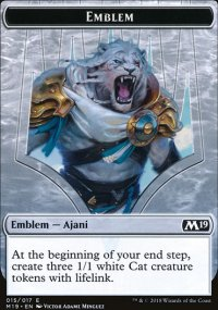 Emblem Ajani, Adversary of Tyrants - Magic 2019