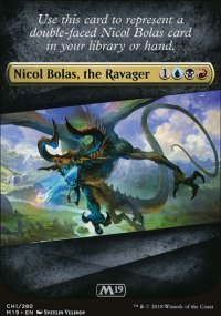 Nicol Bolas Replacement Card - Magic 2019