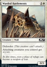 Warded Battlements - Core Set 2021