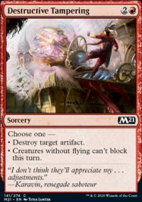Destructive Tampering -
