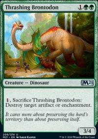 Thrashing Brontodon - Core Set 2021
