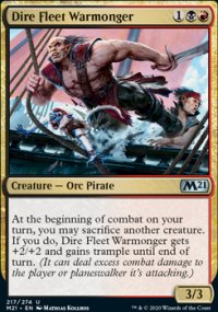 Dire Fleet Warmonger - Core Set 2021