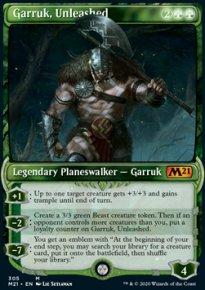 Garruk, Unleashed 3 - Core Set 2021