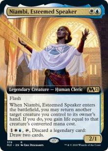 Niambi, Esteemed Speaker -