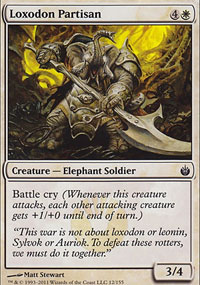Loxodon Partisan - Mirrodin Besieged
