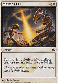 Master's Call - Mirrodin Besieged