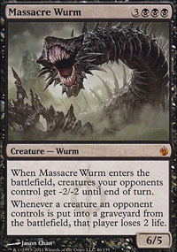 Massacre Wurm - Mirrodin Besieged