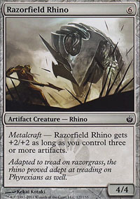 Razorfield Rhino - Mirrodin Besieged