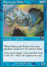 Saprazzan Raider - Mercadian Masques