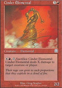 Cinder Elemental - Mercadian Masques