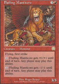 Flailing Manticore - Mercadian Masques