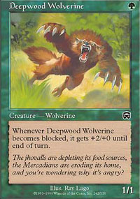 Deepwood Wolverine - Mercadian Masques