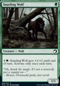 Snarling Wolf - Innistrad: Midnight Hunt