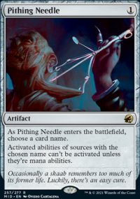 Pithing Needle -