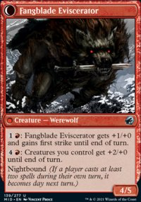 Fangblade Eviscerator 1 - Innistrad: Midnight Hunt