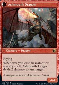 Ashmouth Dragon 1 - Innistrad: Midnight Hunt