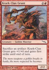 Krark-Clan Grunt - Mirrodin