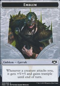 Emblem Garruk, Apex Predator - War of the Spark - Mythic Edition