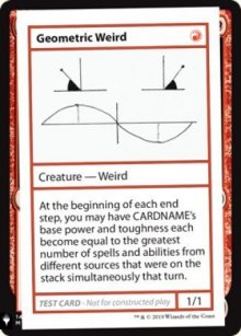 Geometric Weird - Mystery Booster
