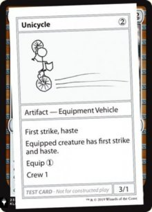 Unicycle - Mystery Booster