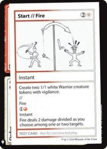 Start / Fire -