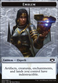 Emblem Elspeth, Knight-Errant - Guilds of Ravnica - Mythic Edition