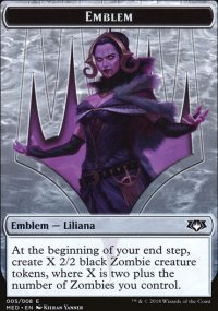 Emblem Liliana, the Last Hope - Guilds of Ravnica - Mythic Edition