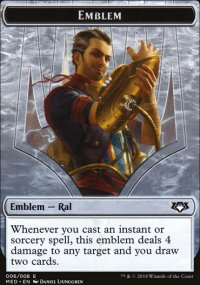 Emblem Ral, Izzet Viceroy - Guilds of Ravnica - Mythic Edition